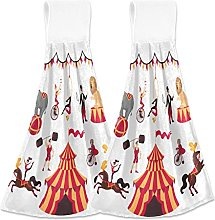 Hanging Kitchen Towels Circus Elements Set Tent