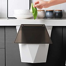 Hanging Kitchen Trash Can with Lid, 3D Shape Small
