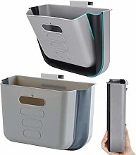 Hanging Kitchen Waste Bin Small Trash Can Foldable