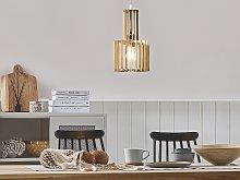 Hanging Lamp Light Wood MDF Metal Pendant Lighting