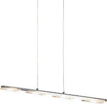 Hanging lamp steel with plastic incl. LED with