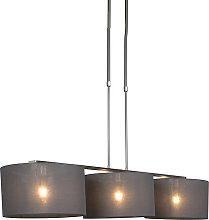 Hanging lamp steel with shade 35 cm dark gray -