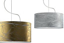 Hanging lamp with lampshade gold or silver Persia