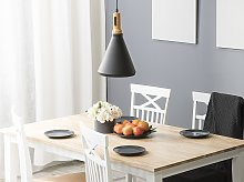Hanging Light Pendant Lamp Black with Gold and