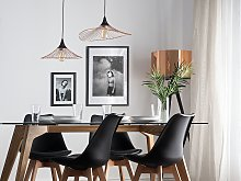 Hanging Light Pendant Lamp Copper with Black Wire