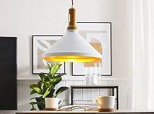 Hanging Light Pendant Lamp Withe with Gold and