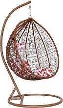 Hanging Rattan Swing Patio Garden Chair Brown