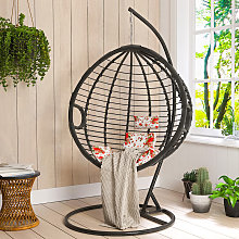 Hanging Rattan Swing Weave Egg Chair w/ Cushion
