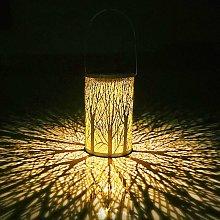 Hanging Solar Lantern, Tree Shape LED Moroccan