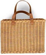 Hanging Storage Basket with 2 Handles Natural -