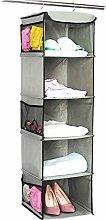 Hanging Storage with 5 Shelves Wardrobe Closet