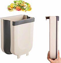 Hanging Trash Can,Folding Waste Bin for Kitchen