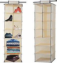 Hanging Wardrobe Storage, 7 Shelves Hanging