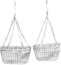 Hanging Wire 2 Piece Basket Set Lily Manor