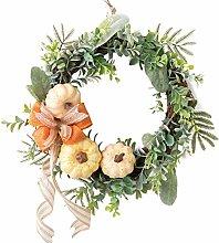 Hanging Wreath Artificial Pumpkin Flower Wreath