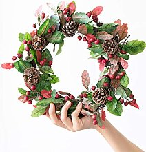 Hanging Wreath Front Door Wreath 13.8 Inch,