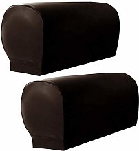 HANHAN 2pcs PU Leather Spandex Sofa Armrest