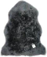 Hanlin Ltd - Medium Dark Grey Sheepskin Rug - Grey