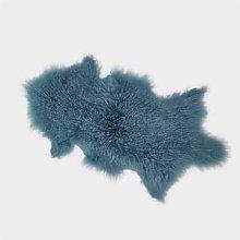 Hanlin Ltd - Teal Tibetan Sheepskin Rug - Teal