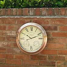 Hann 40 cm Silent Wall Clock Sol 72 Outdoor