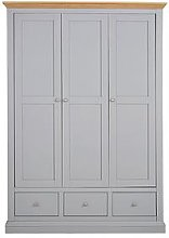 Hanna 3 Door 3 Drawer Wardrobe