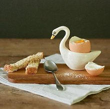 Hannah Turner - White Swan Egg Cup