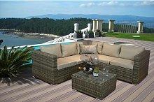 Hanney 4 Seater Rattan Sofa Set Sol 72 Outdoor