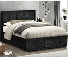 Hannover Black Velvet Fabric Bed Frame - 4ft Small