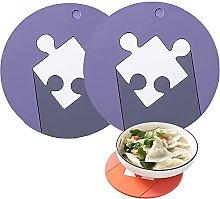 Hanren Set of 2 Round PVC Puzzle Placemats