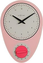 Hans Wall Clock NeXtime Colour: Pink