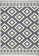 Hanse Home Short Pile Rug Ethnic Grey Cream 80 x