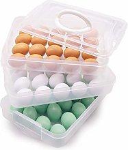HANSGO Egg Holder, 3-Layer Deviled Egg Tray with