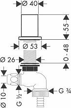 Hansgrohe Axor Kitchen appliance shut-off valve,