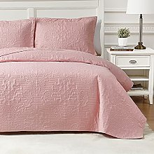 Hansleep Quilted Bedspread Throw King Size 240 x