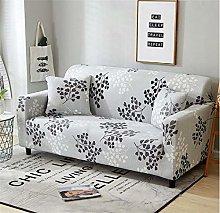 HANTAODG Sofa Cover Small gray leaves Spandex