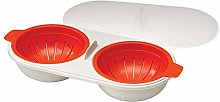 Hanwuo Microwave Oven Egg Poacher,Double Cup Egg