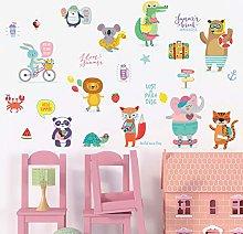 HANXIN DIY Animal Wall Stickers Children Bedroom