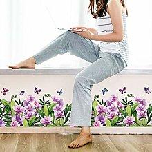 HANXIN Removable Baseboard Decorative Flower
