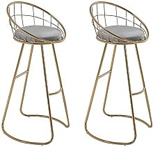 HAO KEAI Bar Stools set of 2 Bar Stool Backrest