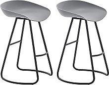 HAO KEAI Bar Stools set of 2 Wrought Iron Bar