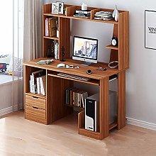 HAOCHI Computer Desk With Hutch And Bookshelf,47