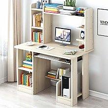 HAOCHI Modern Computer Desk With Storage Bookshelf