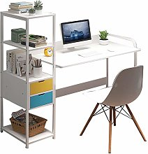 HAOCHI Office Desk With Shelves,With Drawer