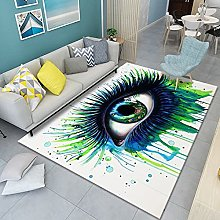 HAODELE Area Rug 90x90cm Easy Clean Bedside Carpet