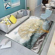 HAODELE Carpet 90x90cm Easy Clean Rug Decor Easy