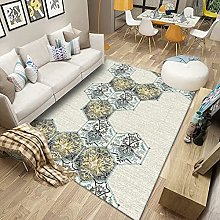 HAODELE Rug 90x90cm Easy Clean Skid Yoga Carpet