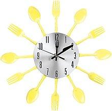 Haofy Wall Clock, Stainless Steel Cutlery Clock