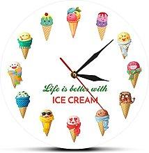 HAOHAO 37 Wall Clock Series Strawberry Ice Cream