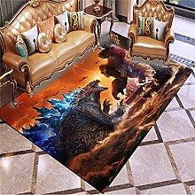 haoshuang Children's carpet Godzilla King Kong