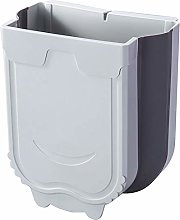 HAOXIANG Kitchen Hanging Trash Can, Collapsible